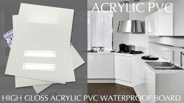 Tấm Acrylic phủ trên ván EPVC S8 dành cho tủ bếp hiện đại