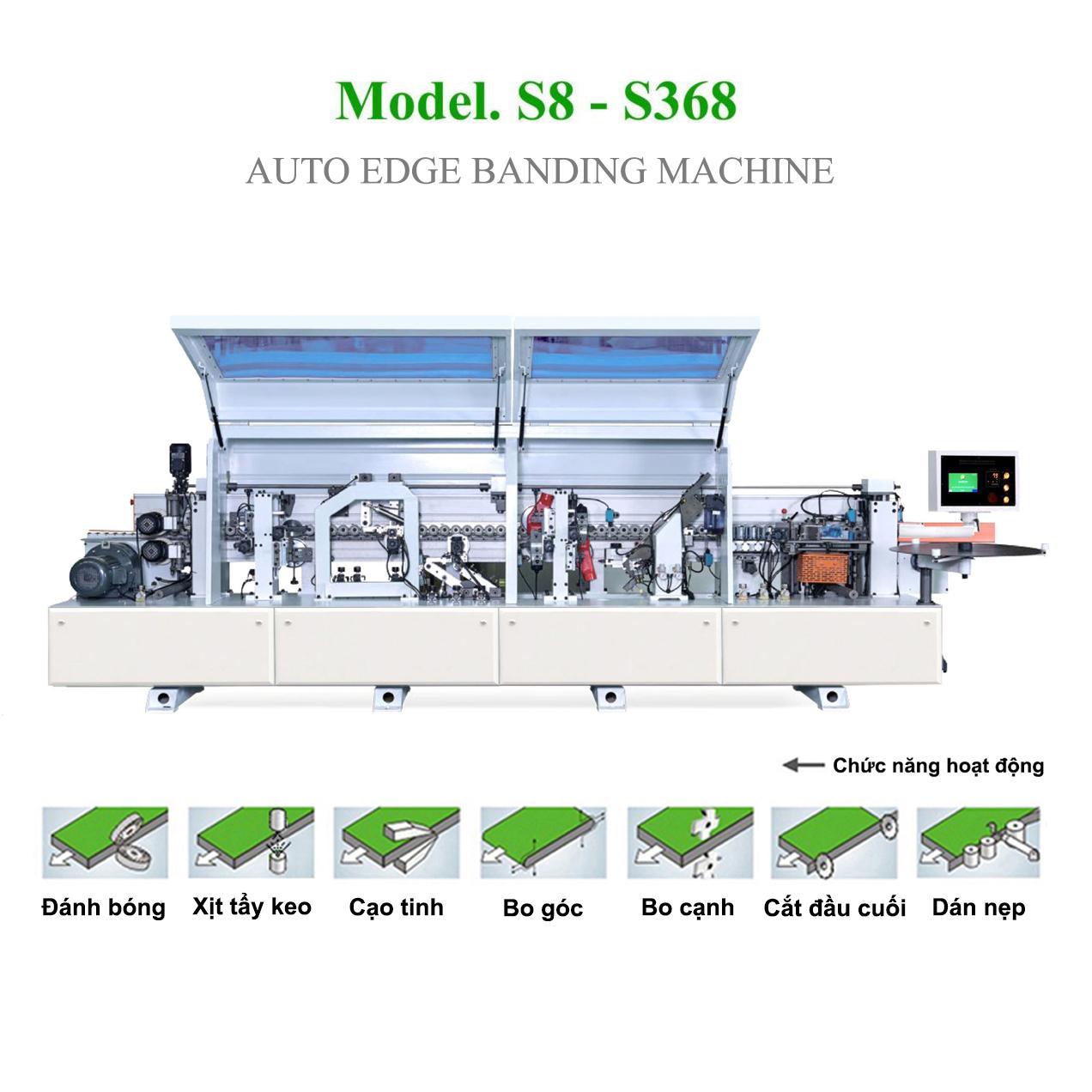 Máy dán cạnh tự động 7 chức năng S8 - S368