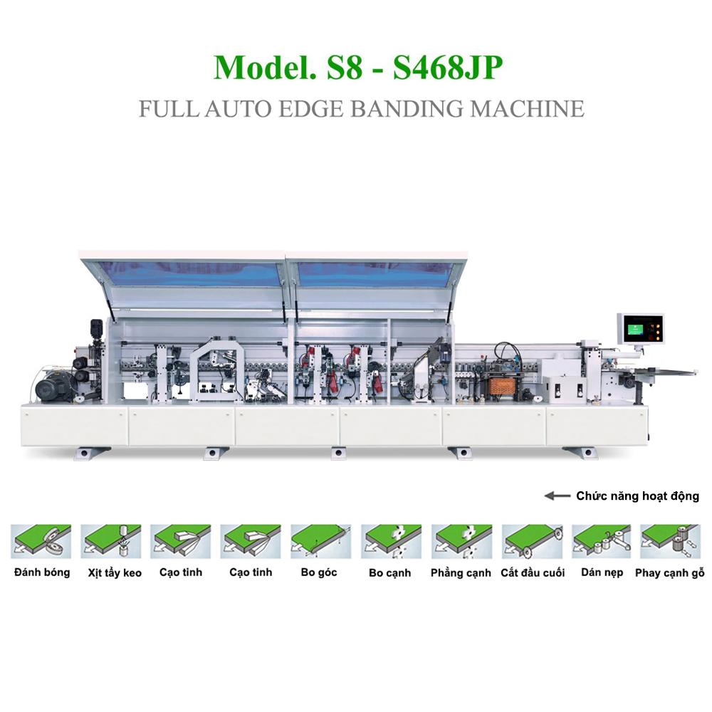 Máy dán cạnh tự động 10 chức năng  S8 - S468JP