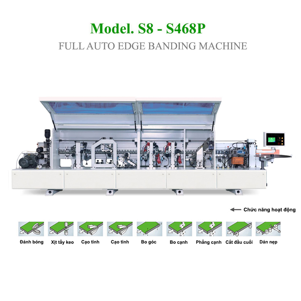 Máy dán cạnh tự động Full chức năng S8 - S468P