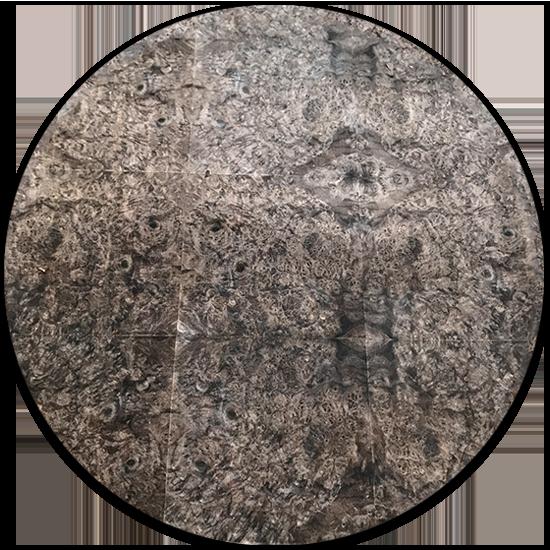 Veneer tự nhiên kỹ thuật Nu gỗ Óc Chó kt: 600*2500mm - VN 16